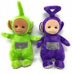 Teletubbies SET OF 2 Official TALKING Soft Toys - DIPSY & TINKY WINKY - NO TAGS
